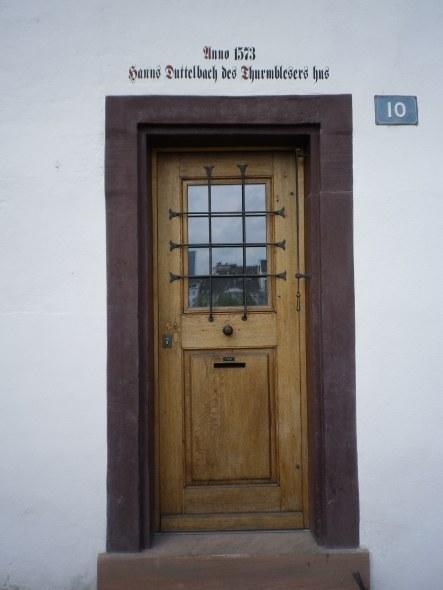 Hans Duttelbach des Turmbläsers Haus am Rheinsprung